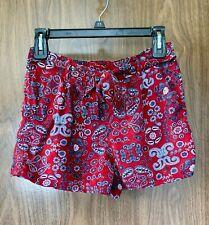 Cato Bandanna Print Shorts Size Small Red