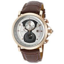 Lucien Piccard 40015-RG-02S-BRW Brown Leather Strap Men's Quartz Watch