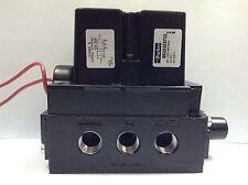 "Parker SSL20203722 5/2-Way 3/8""  Pneumatic Directional Control Sol Valve  24V DC"