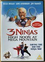 Three Ninjas High Noon at Mega Mountain DVD 4 1998 Family Film Movie Hulk Hogan