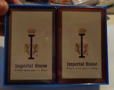 """2 NOS Imperial House """"Where every guest is King"""" Deck Of Playing Cards Free S/H"""