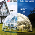 12ft Garden Dome Igloo Bubble Tent Outdoor Clear Greenhouse PVC Night LED Party
