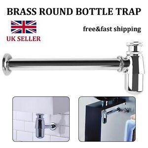 Adjustable Height Outlet Chrome Bottle Trap Basin Waste Bathroom Sink Pipe New
