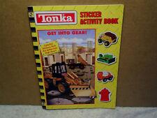 2004 TONKA STICKER ACTIVITY BOOK Unused,get into gear,trucks,bulldozer