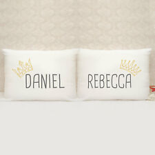 Personalised Pillow Case - Gift - Present - King and Queen - Set of 2