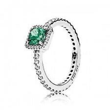 Pandora anillo plata Circonita verde talla 54
