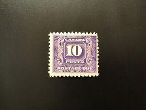 """JPS_Stamps! #J-10...""""2nd Postage Due,10¢ dark violet - Perf. 11"""" (m/no gum)"""