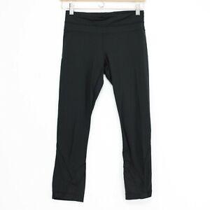 Lululemon Inspire Crop II Womens 4 Black Zip Back Zip & Hidden Pockets