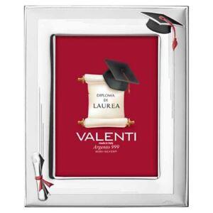 Cornice Laurea Cappello e Pergamena 13 x 18 Valenti