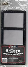 BCW 3 CARD SCREW DOWN BLACK BORDER CASE  1-3CS-B