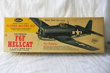 GUILLOW'S GRUMMAN F6F HELLCAT US NAVY WW2 FIGHTER BALSA MODEL KIT NIB