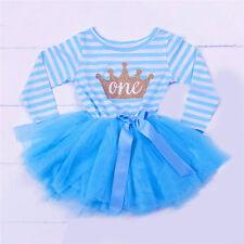BABY GIRL 1ST FIRST BIRTHDAY PRINCESS TUTU DRESS Present BIRTHDAY DRESS Party