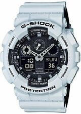 Casio G-Shock GA-100L-7A Analog-Digital Military White Resin Watch