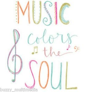 Music Colors The Soul Shirt, Music Gift Shirt, musician, musical notes, Sm - 5X