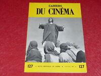 [REVUE LES CAHIERS DU CINEMA] N°127 # JAN 1962 NICHOLAS RAY EO 1rst Printing