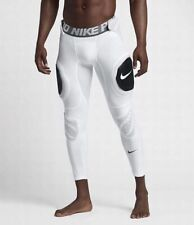 Nike Pro Hyperstrong Hard Plate 3/4 Football Tights White Mens Sz XXL 2XL $125