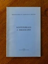 R. D. Fitzgerald: A Bibliography. Bibliographies Of Australian Writers, 1970