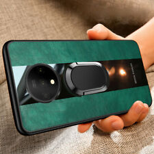 For OnePlus 8 Pro 7T Pro 7 6T Leather Magnetic Car Ring Holder Back Case Cover
