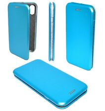 Etui Housse Cuir Pu Premium Folio Bleu Apple iPhone X