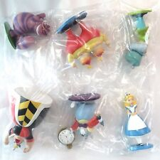 Disney Alice in Wonderland 6pc Ornaments Figure Set Cheshire Cat Mad Hatter ...