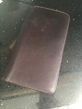 Bugatti Leather Passport Travel Document Organizer — Brown