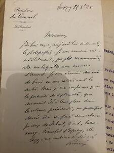 Lettre Manuscrit RAYMOND POINCARE PRÉSIDENT RÉPUBLIQUE  1ere GUERRE Avec Réponse