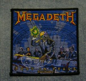 Megadeth Rust in peace sew on patch retro Official merchandise rock