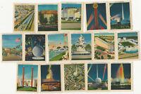 1939 New York World's Fair 16 Souvenir Miniature Color Cards Complete Set