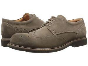 Men's ECCO Findlay Brogue Tie Oxfords, 633584 05559 Size 8-8.5 Dark Clay NIB