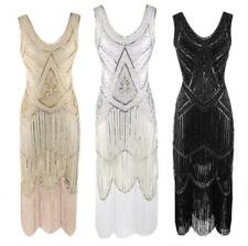 NEW Ladies 1920s Roaring 20s Flapper Costume Sequin Gatsby Outfit Dress Up AU