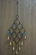 Handmade Oval Diamond Rusty Iron Metal Bells Wind Chime Garden Yard #F-1078