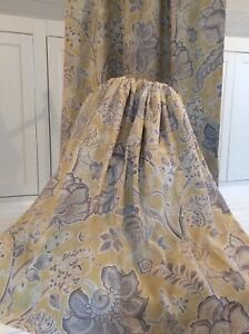 HARLEQUIN SHALIMAR fabric curtains Thermal Blackout 2 pr available LINEN MIX