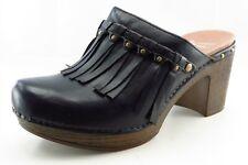 Dansko Size 38 M Black Round Toe Mules Leather Wmn
