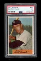 1954 Bowman BB Card # 97 Gil McDougald New York Yankees PSA EX 5 !!!