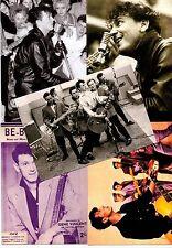 5 GENE VINCENT POSTCARDS. Rock'n'roll.