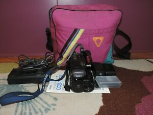 Sony Video 8 Handcam 10X CCD -TR31, AC adapter/charger, case, manual, batteries