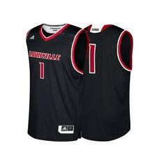ff00a4927 adidas Louisville Cardinals Black Replica Basketball Jersey L