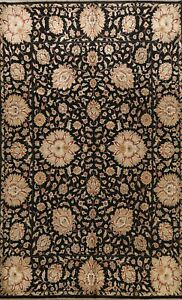 Vegetable Dye Agra Floral Oriental Area Rug Hand-knotted Assorted 9'x12' Carpet