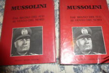 MUSSOLINI -FRATELLI MELITA EDITORI- ITALIAN TEXT 2 VOLUMES
