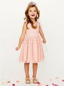 M&Co Pink Lace Party Wedding Flower Girl Dress Age 5-6 6-7 7-8 Years NEW rrp £26