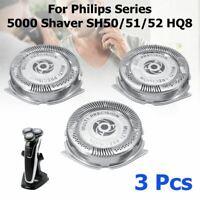 3pcs Lame de Rechange Tête Rasoir Pour Rasoir Philips Série 5000 SH50/51/52 HQ8