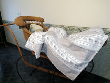 Hand made Baby Rag quilt for crib or stroller Gray and White Baby Sheep Flannel