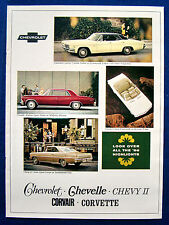 Prospectus brochure 1966 CHEVROLET CHEVELLE * CORVAIR * Corvette (USA)