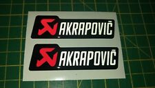 Cúpula Reflectante AKRAPOVIC Adhesivo Calcomanía Para Moto-carrera * Gel Rojo/Blanco