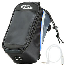 Support etui smartphone bicyclette sacoche vélo sac housse téléphone L noir-bleu