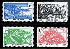 Gb Locals - Isle de Serk (Sark) Unlisted 1965 Set of 4 - 400th Anniversary
