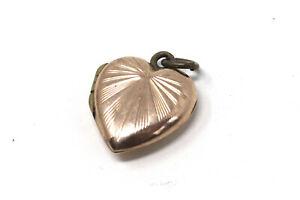 A Lovely Vintage 9ct Rose Gold Back & Front Engraved Heart Locket Pendant #32771