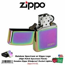 Zippo Rainbow Spectrum Lighter w/ Logo Lasered, Genuine Windproof #151ZL