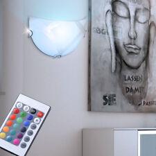 LED RVB lumière murale chrome verre design lampe la vie sommeil de l'ess bain