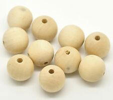 "50PCs Natural Round Wooden Spacer Beads 20mm(3/4"")"